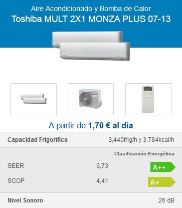 Toshiba MULT 2X1 MONZA PLUS 07-13